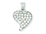 Sterling Silver Stellux Crystal Heart Pendant - Chain Included style: QP2480