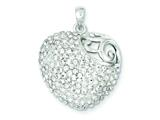 Sterling Silver Stellux Crystal Heart Pendant - Chain Included style: QP2481