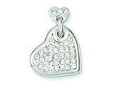 Sterling Silver Stellux Crystal Heart Pendant - Chain Included style: QP2485