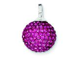 Sterling Silver Stellux Crystal 12mm Pink Ball Pendant - Chain Included style: QP2491