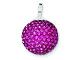 Sterling Silver Stellux Crystal 14mm Pink Ball Pendant - Chain Included style: QP2492
