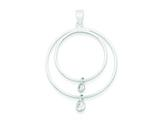 Sterling Silver Cubic Zirconia Pendant - Chain Included style: QP2566