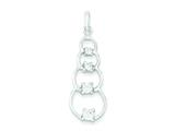 Sterling Silver Polished Cubic Zirconia Pendant - Chain Included style: QP2567