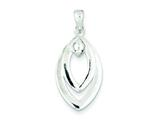 Sterling Silver Moveable Drop Pendant - Chain Included style: QP2573