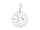 Sterling Silver Circle Pendant - Chain Included style: QP2598