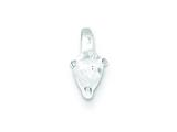 Sterling Silver Cubic Zirconia Pendant - Chain Included style: QP2625