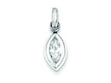 Sterling Silver Cubic Zirconia Pendant - Chain Included style: QP2652