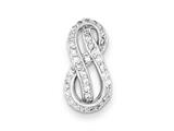 Sterling Silver Rhodium Plated Cz Slide style: QP2660