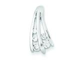 Sterling Silver Polished Cubic Zirconia Pendant - Chain Included style: QP2664