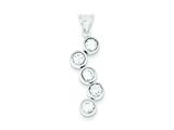Sterling Silver Cubic Zirconia Pendant - Chain Included style: QP2689