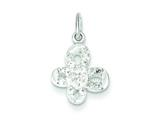 Sterling Silver Cubic Zirconia Butterfly Pendant - Chain Included style: QP2701