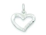 Sterling Silver Heart With Cubic Zirconia Pendant - Chain Included style: QP2773