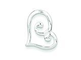 Sterling Silver Swirl Heart Slide style: QP2788