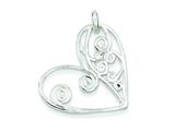 Sterling Silver Heart Pendant - Chain Included style: QP2793