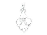 Sterling Silver Spade, Heart, Club, Diamond Charm style: QP2812