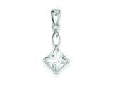 Sterling Silver Cubic Zirconia Pendant - Chain Included style: QP2879