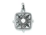 Sterling Silver Marcasite And Cubic Zirconia Pendant - Chain Included style: QP601