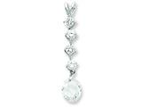 Sterling Silver Cubic Zirconia Pendant - Chain Included style: QP676