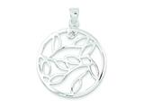 Sterling Silver Fancy Round Pendant - Chain Included style: QP716