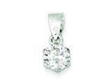 Sterling Silver Cubic Zirconia Pendant - Chain Included style: QP813