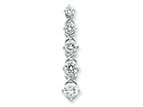 Sterling Silver Cubic Zirconia Journey Pendant - Chain Included style: QP848
