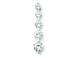 Sterling Silver Cubic Zirconia Journey Pendant - Chain Included style: QP850