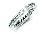 Sterling Silver Cubic Zirconia Eternity Band style: QR1965