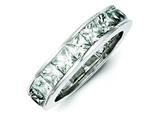 Sterling Silver Cubic Zirconia Eternity Band style: QR1971