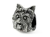 Reflections™ Sterling Silver Yorkshire Terrier Head Bead / Charm style: QRS1281