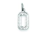 Sterling Silver Diamond-cut #0 Charm style: QSN00