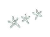 Sterling Silver Cubic Zirconia Starfish Earrings And Pendant Set style: QST48