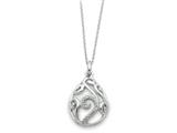 Sentimental Expressions(tm) Sterling Silver White Agate and CZ Dew of Heaven 18 Inch Necklace