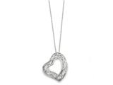 Sentimental Expressions(tm) Sterling Silver Amazing Love 18 Inch Heart Necklace