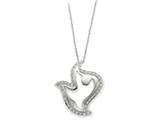 Sentimental Expressions(tm) Sterling Silver and CZ Amazing Peace 18 Inch Dove Necklace