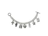 Sentimental Expressions(tm) Sterling Silver Answered Prayer 7.5 Inch Locket Charm Bracelet