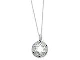 Sentimental Expressions(tm) Sterling Silver w/Blue and Clear CZ Star of David 18 Inch Necklace