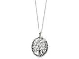 Sentimental Expressions(tm) Sterling Silver Antiqued Tree of Life 18 Inch Necklace