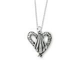 Sentimental Expressions(tm) Sterling Silver Antiqued Angel of Friendship 18 Inch Necklace