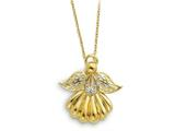 Sentimental Expressions(tm) Sterling Silver and Gold-plated Angel of Remembrance 18 Inch Necklace style: QSX158