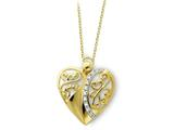 Sentimental Expressions(tm) Sterling Silver and Gold-plated Angel of Love 18 Inch Necklace