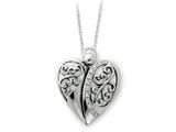 Sentimental Expressions(tm) Sterling Silver Antiqued 18 Inch Angel of Love Necklace style: QSX161
