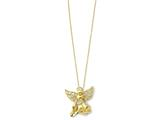 Sentimental Expressions(tm) Sterling Silver Gold-plated Angel of Gratitude 18 Inch Necklace style: QSX166