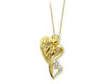 Sentimental Expressions(tm) Sterling Silver and Gold-plated Angel of Protection 18 Inch Necklace