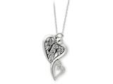 Sentimental Expressions(tm) Sterling Silver Antiqued Angel of Protection 18 Inch Necklace style: QSX169