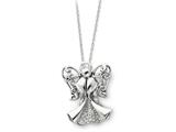 Sentimental Expressions(tm) Sterling Silver Antiqued Angel of Strength 18 Inch Necklace