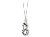 Sentimental Expressions(tm) Sterling Silver Antiqued Infinity Remembrance Ash Holder 18 Inch Necklace style: QSX176