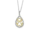 Sentimental Expressions(tm) Sterling Silver and Gold-plated Love Carries On 18 Inch Necklace style: QSX193