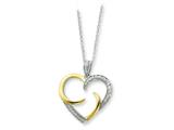 Sentimental Expressions(tm) Sterling Silver and Gold-plated The Arms of Love 18 Inch Heart Necklace