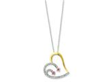 Sentimental Expressions(tm) Sterling Silver and Gold-plated Forever By Your Side 18 Inch Necklace style: QSX200