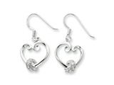 Sentimental Expressions(tm) Sterling Silver and CZ Loveknots Dangle Earrings